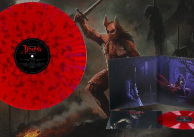 New Red and Purple Splatter vinyl edition of Dracula featuring Love Song For A Vampire by Annie Lennox is available for Pre-Order now