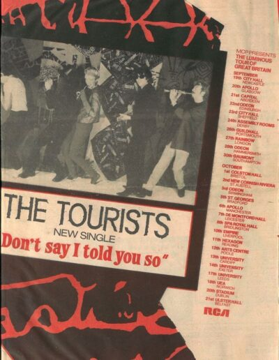 1979-01-01 – The Tourists – The Tourists Scrapbook 09 from The UK ID: 3301