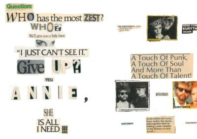 Something new in the Ultimate Eurythmics Archives – 15 fan made scrapbooks spanning over 40 years of The Tourists and Eurythmics history.